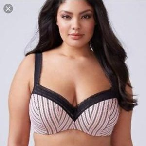 Striped Balconette Bra 38F